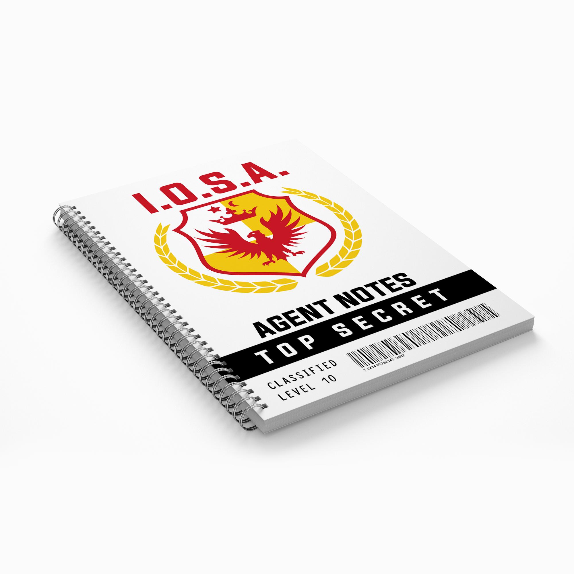 Secret Agent Notebook - $5.00