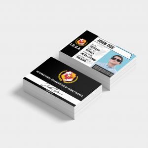 secret agent name card